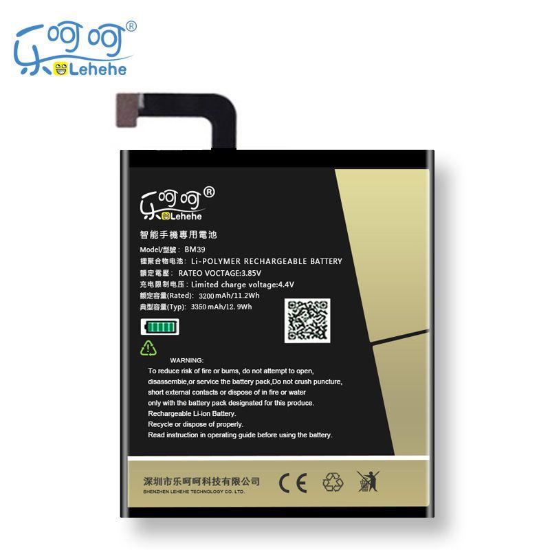 Original LEHEHE Batterie Für Xiao mi mi 6 mi 6 BM39 3350 mah Hohe Qualität Ersatz Bateria Batterie Kostenlose Tools geschenke