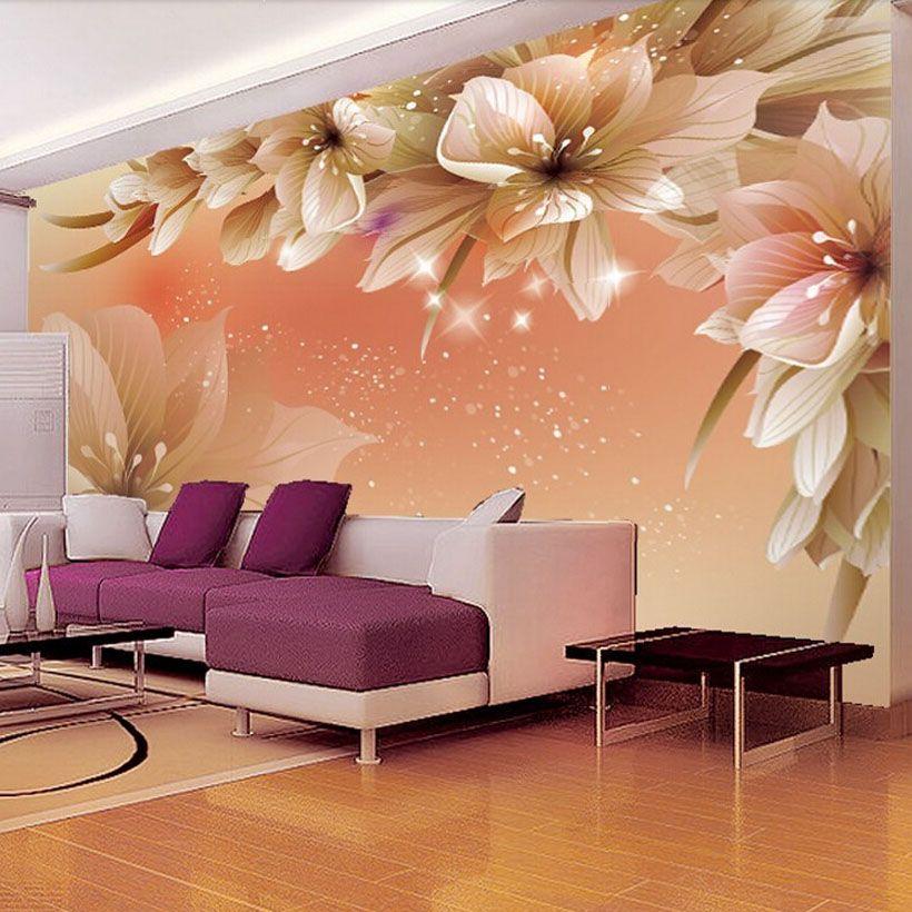 Benutzerdefinierte 3D Fototapete Moderne Blume Wandbild Wand Papier Wohnzimmer Sofa TV Hintergrund Vlies Tapete schlafzimmer