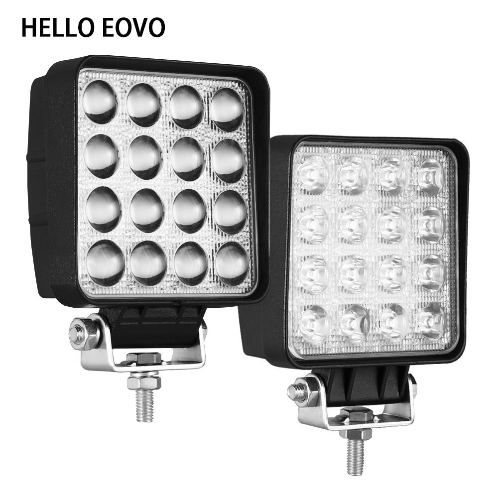 HELLO EOVO 10pcs 4 Inch 48W LED Work Light Bar for Indicators Motorcycle Driving Offroad Boat Car Tractor Truck 4x4 SUV ATV 12V