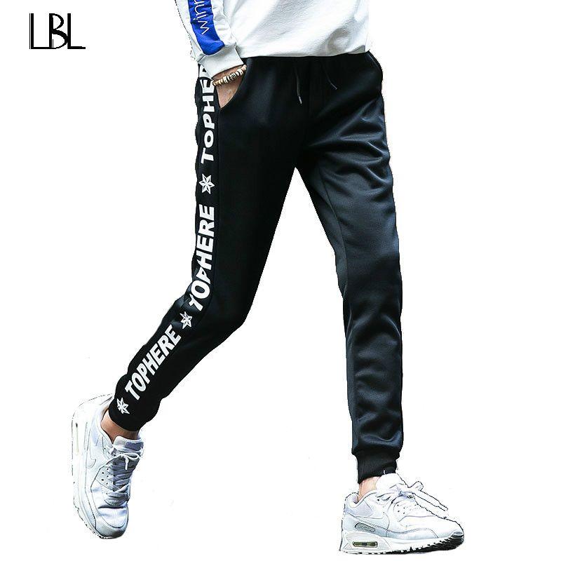Men Joggers Hip Hop Pencil Feet Pants Elastic Waist Men Skinnly Pencil Pants Men Slim Fit Mens Casual Pants Straight Trousers