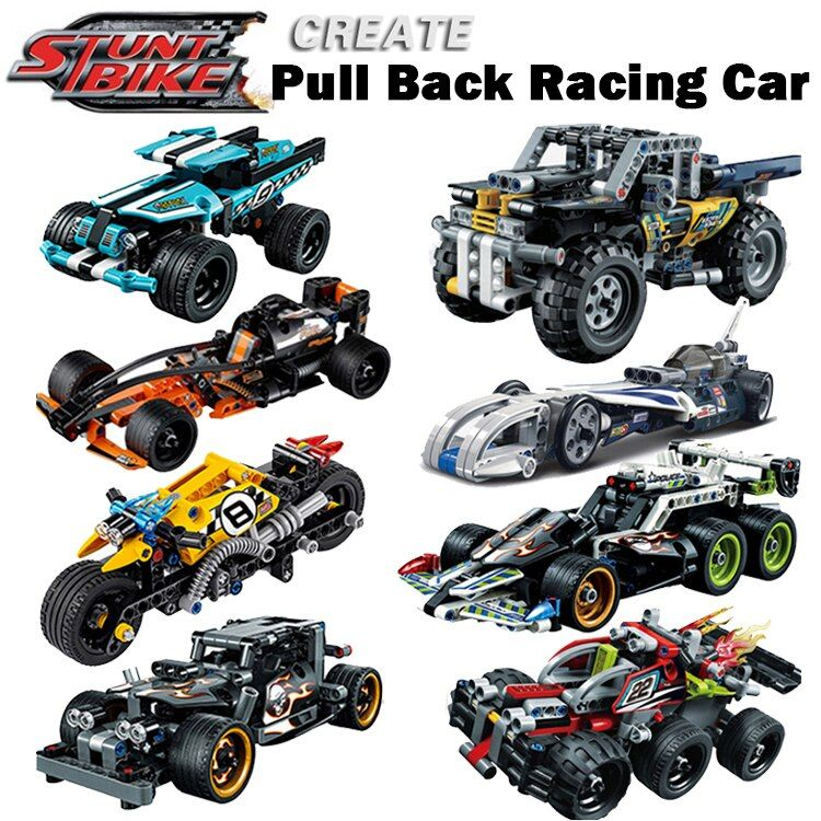 Decool legoings Pull Back Technic Car Racer MOC Truck DIY building blocks kids toys for children bricks supercar christmas gift