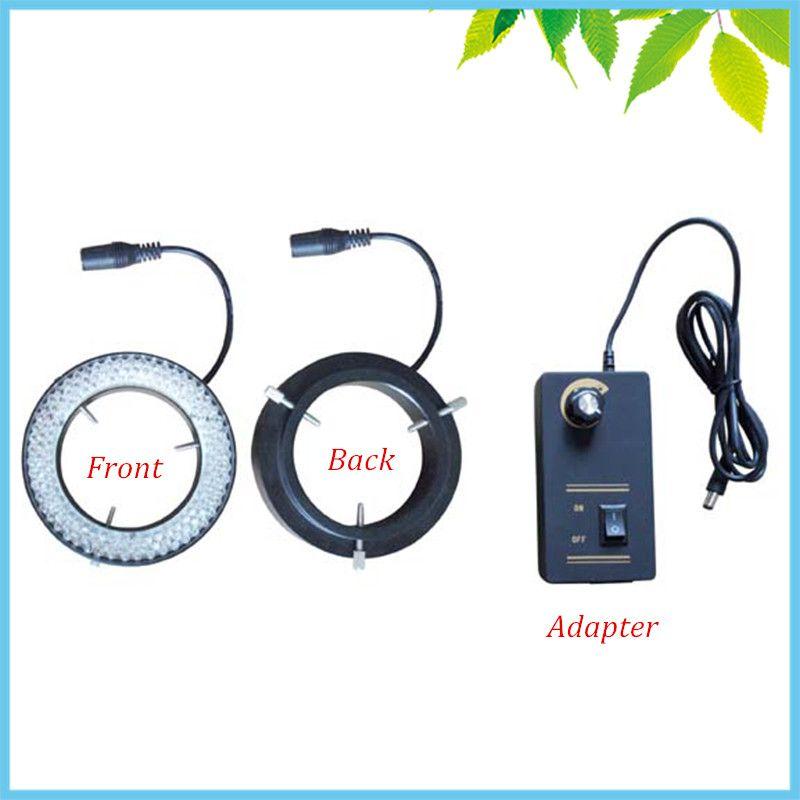 156 PCS White Microscope LED Ring Light 81mm Large Inner Diameter LED Ring Lamp with Adapter for Camera Illumination