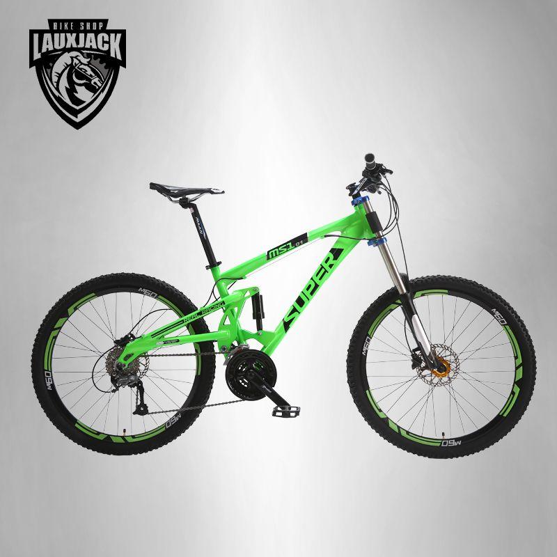 SUPER Mountain bike double-sided aluminum frame 24/27 speed hydraulic / mechanical disc brakes 26