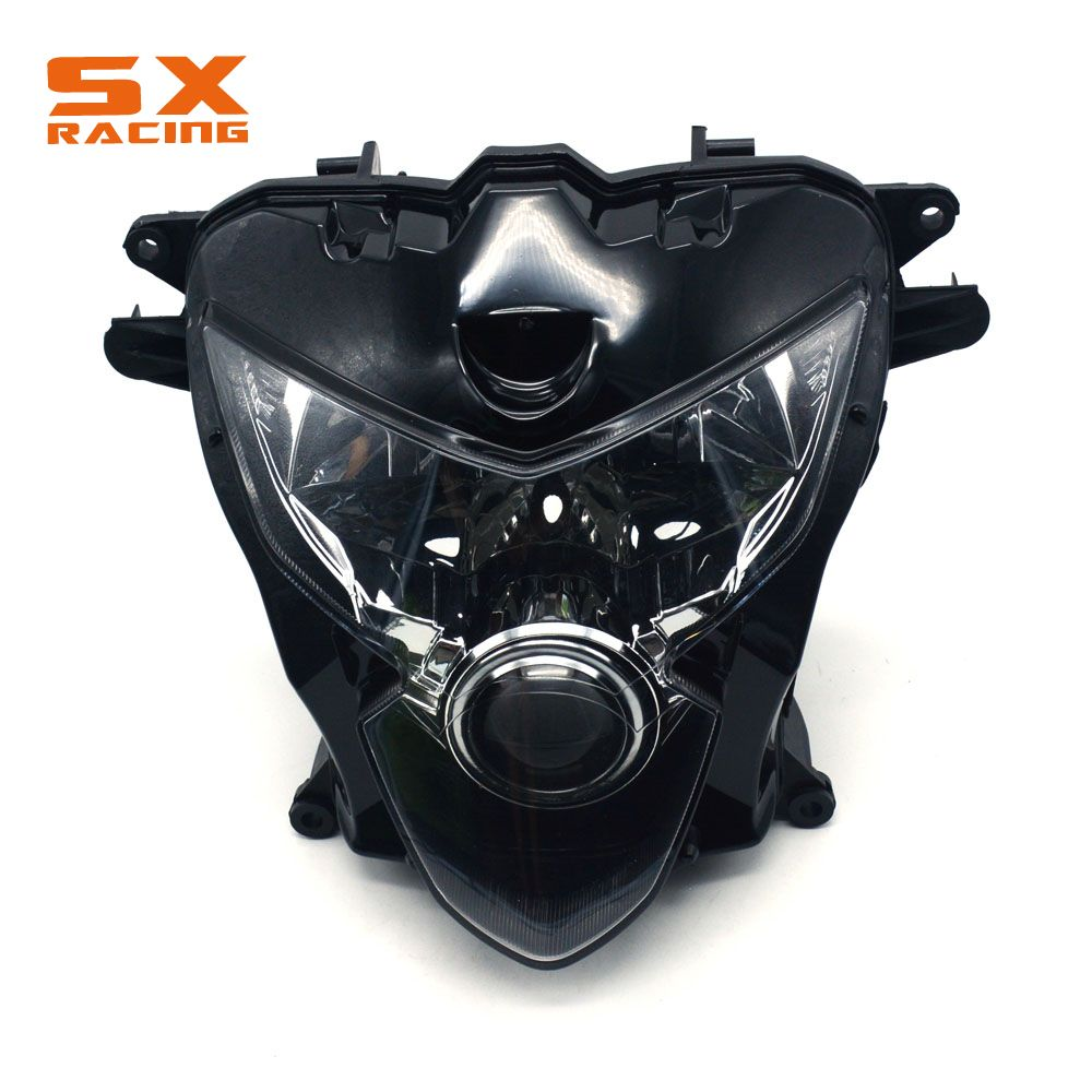 Motorcycle Plastic Headlight Headlamp Frontlight For GSXR600 GSXR750 GSXR 600 GSXR 750 GSX600R GSX750R 2004-2005