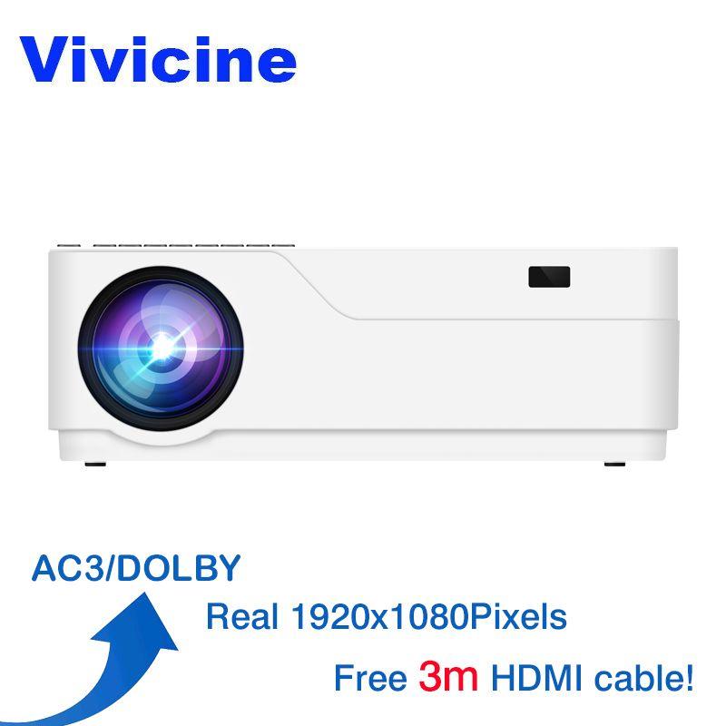 Vivicine M18 1080 p LED Projektor, optional Android 7.1 HDMI USB PC Full HD Home Multimedia Video Spiel Projektor Proyector Beamer