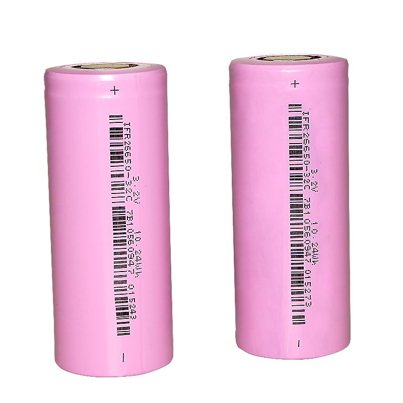 Hixon 2pcs 3200mAh Unprotected 26650 Rechargeable Battery with LiFePO4 Battery Cell