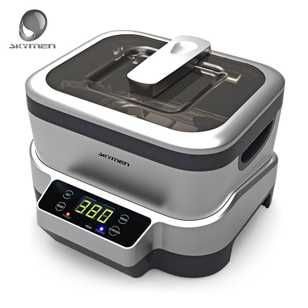 SKYMEN 1.2L 110-240V Digital Ultrasonic Cleaner Ultrasound Bath Cleaning Machine Sterilizer Cleaner Sterilizing Disinfection