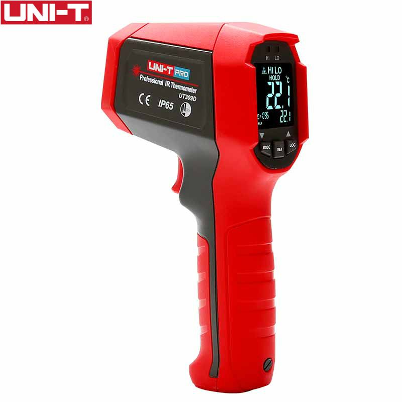 UNI-T UT309D professional non-contact infrared thermometer EBTN display IP65, dustproof and waterproof thermometer