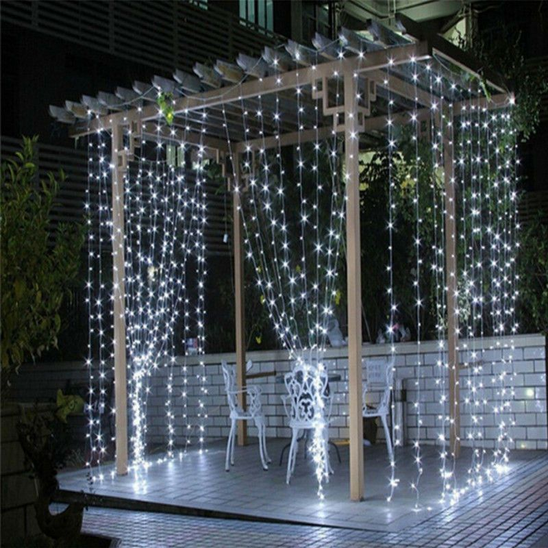 3x3/6x3/10*3m led noël lumière chaîne lumière 300 led jardin fête rideau décoration pour mariage maison fenêtre fête décoration