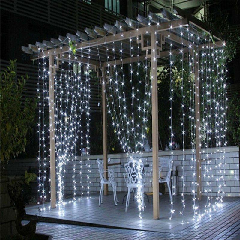 3x3/6x3/10x3 м светодиодный Шторы свет светодиодный Рождество гирлянды свадебная фея строка свет фея света Сад вечерние свет