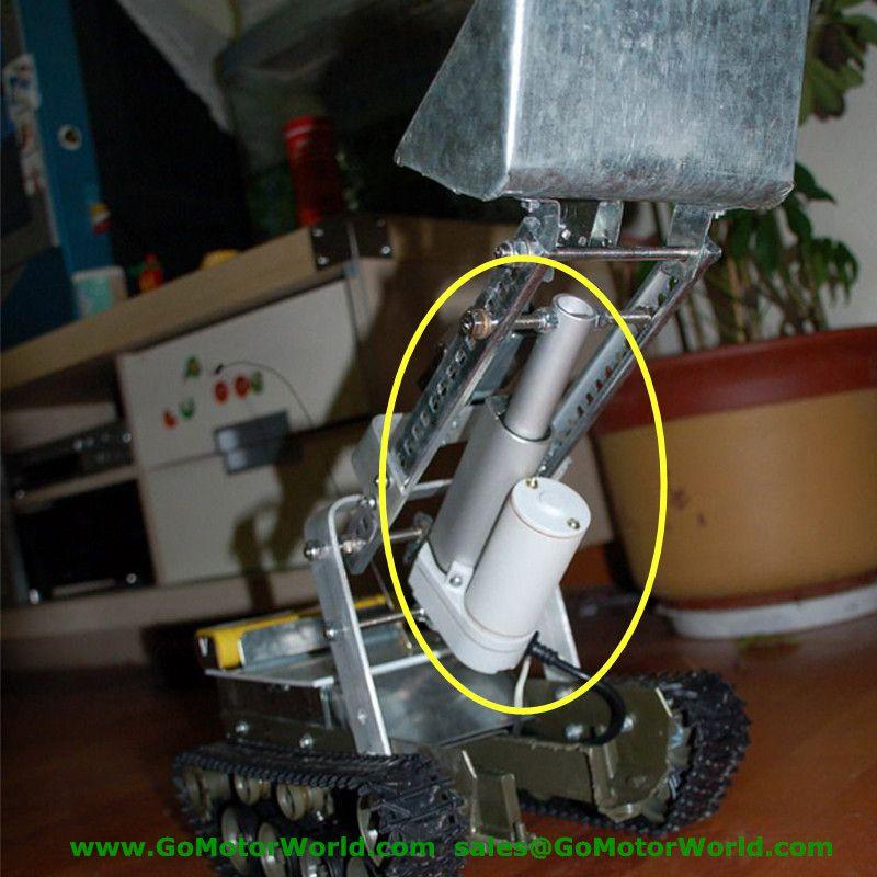 Étanche nouveau 12 V 24 V 150mm 6 pouces course 1600N 1600 KG charge 100 mm/s vitesse actionneur linéaire