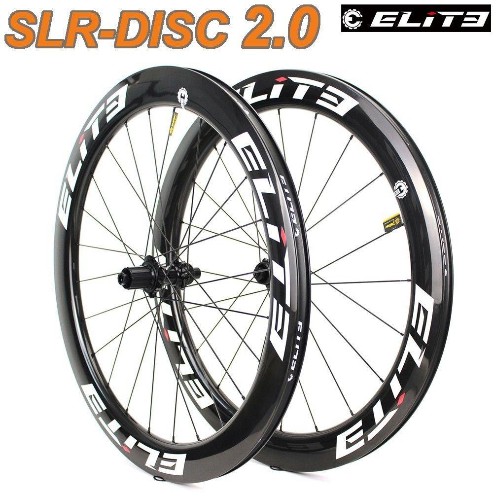 Elite SLR Disc Bremse Carbon Rennrad Rad Niedrigen Widerstand System Tubular Klammer Tubeless 700c Kies Cyclocross Laufradsatz