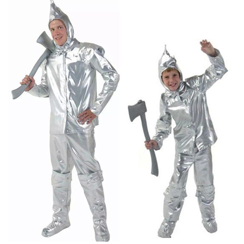 VASHEJIANG Anime Costume Wizard Of Oz 75th Anniversary Edition Adult Tin Man Costume Halloween Costumes for Children