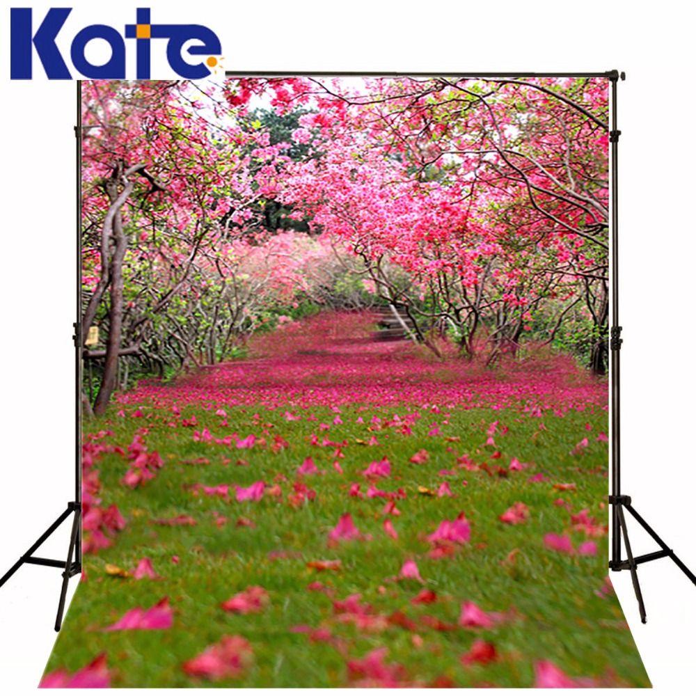 10x10ft Кейт Весна пейзажа фотографии фонов розовый цветок фотографии Задний план для Студия фото цветок свадебные фоны