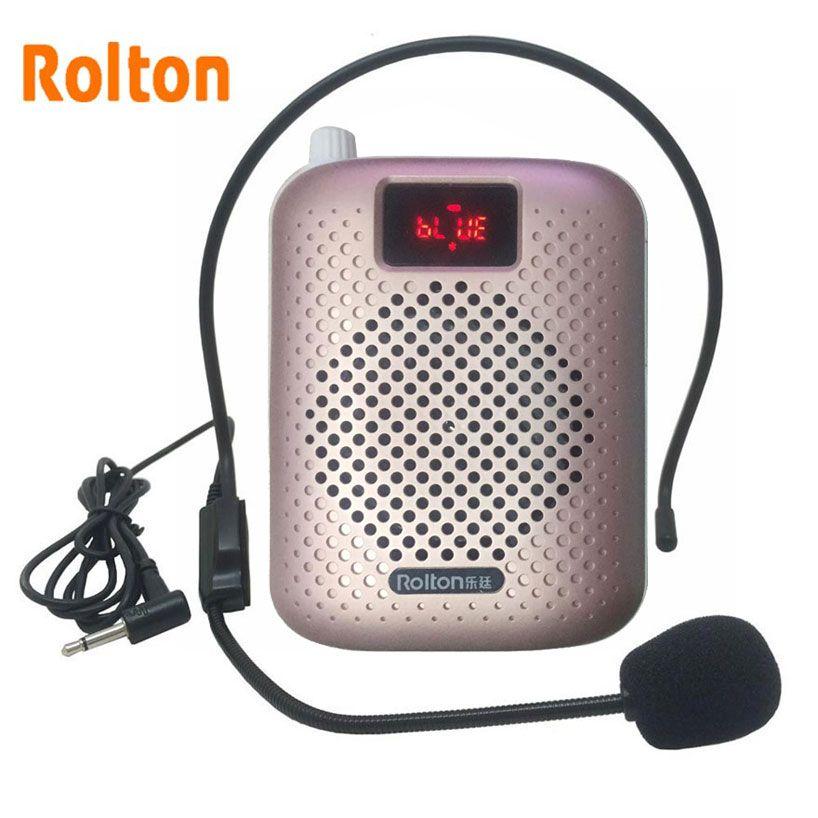 Rolton K500 Bluetooth haut-parleur Microphone amplificateur vocal Booster mégaphone haut-parleur prend en charge FM radio TFCard lecteur Mp3