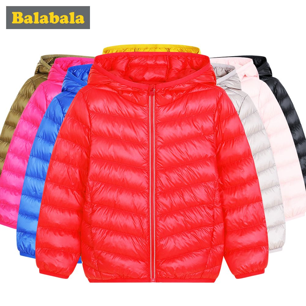 Balabala girls boys Duck Down Jackets children fashion clothing winter jacket thick clothes for kids for 20 degrees below zero