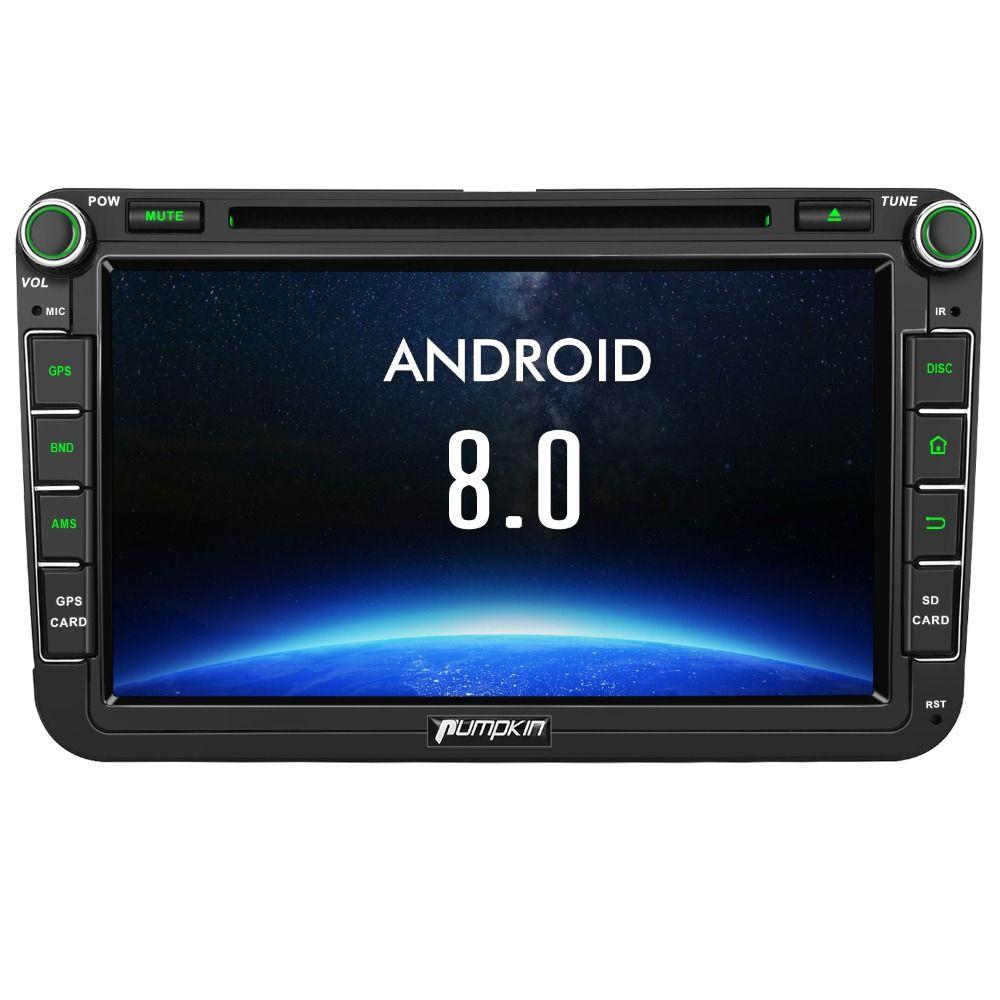 Pumpkin 2 Din 8'' Android 8.0 Car Radio DVD Player GPS Navigation For VW/Skoda/Seat/Golf Car DVR 4GB RAM Wifi 4G FM Radio Stereo
