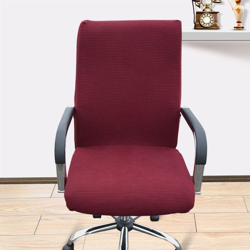 Grande taille bureau ordinateur chaise couverture côté fermeture éclair design bras chaise couverture recouvre chaise extensible rotatif ascenseur chaise couverture