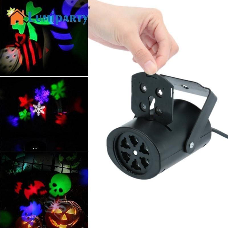 Lumiparty творческий светодиодные лампы проектора свет этапа с 4 карты бабка свет для Рождество Хэллоуин, День святого Валентина
