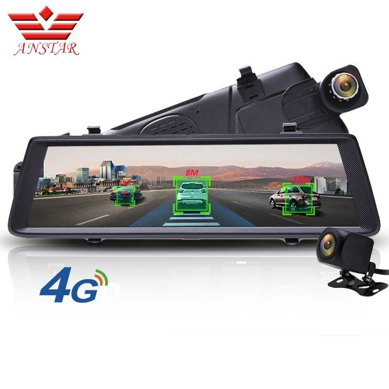 ANSTAR ADAS Auto DVR Kamera 4G Android Video Recorder Dual Objektiv Bluetooth WIFI FHD 1080 p GPS Navigator Auto rückspiegel DVRS