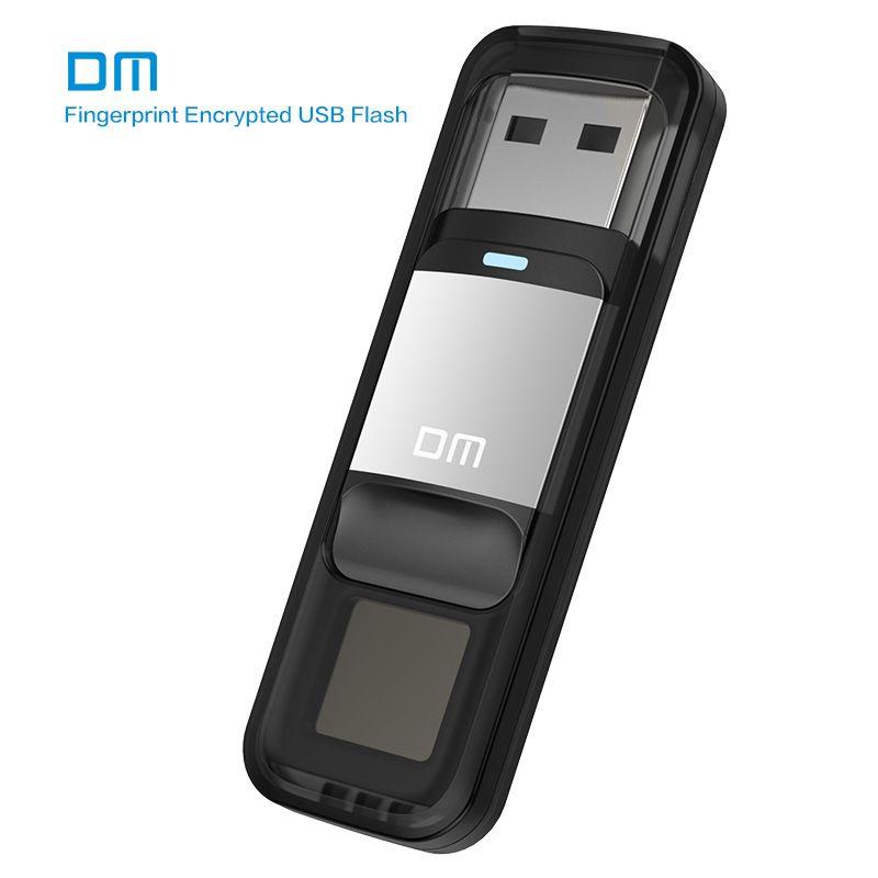 DM PD061 USB3.0 64GB U Disk Storage Device Flash Drive Pen Drive with Fingerprint Encryption Function Golden / Sliver Color