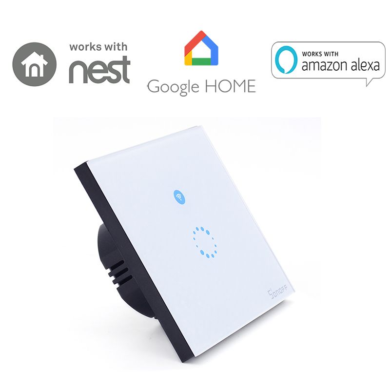Itead Sonoff Touch WiFi Wall Light Switch 1gang 1way ON/Off Wireless Timing EU 86 Switch IOS Android Remote Control Smart Home