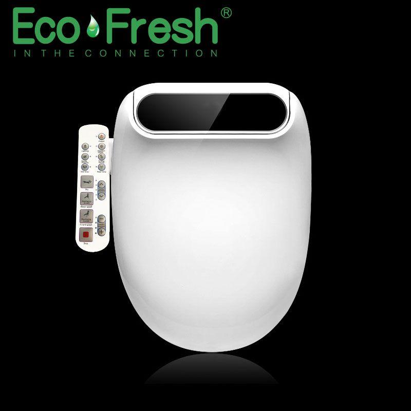 Ecofresh Smart wc sitz Dusch-wc Verlängern Elektrische Bidet abdeckung wärme led licht waschen trockenen massage mann frau kind oldman