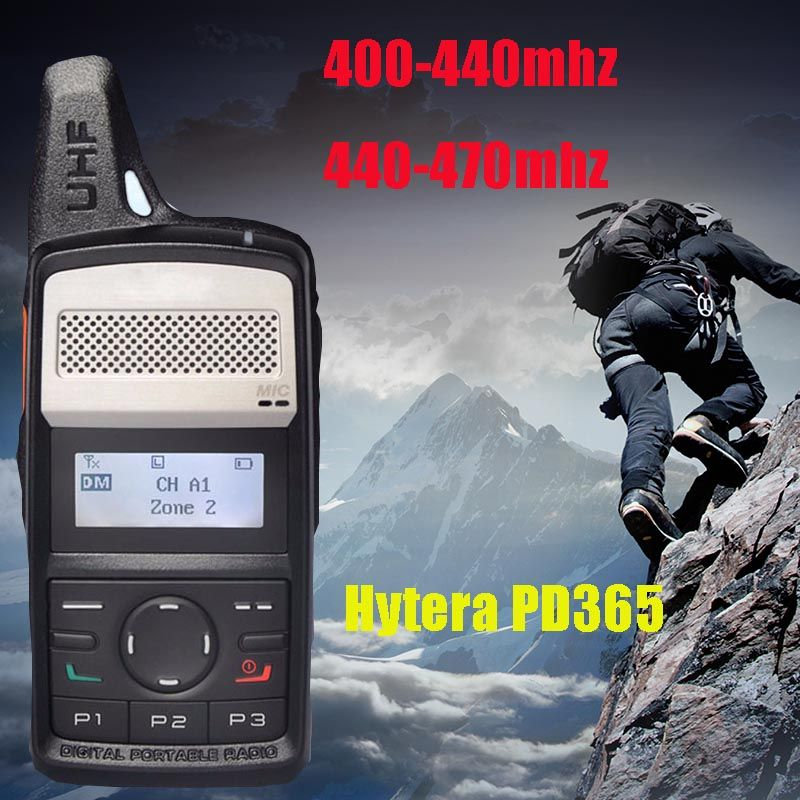 Hytera PD365 walkie talkie 400-440mhz 430-470mhz digital DMR 2000mAh battery long standby walkie talkie for hunting 10 km