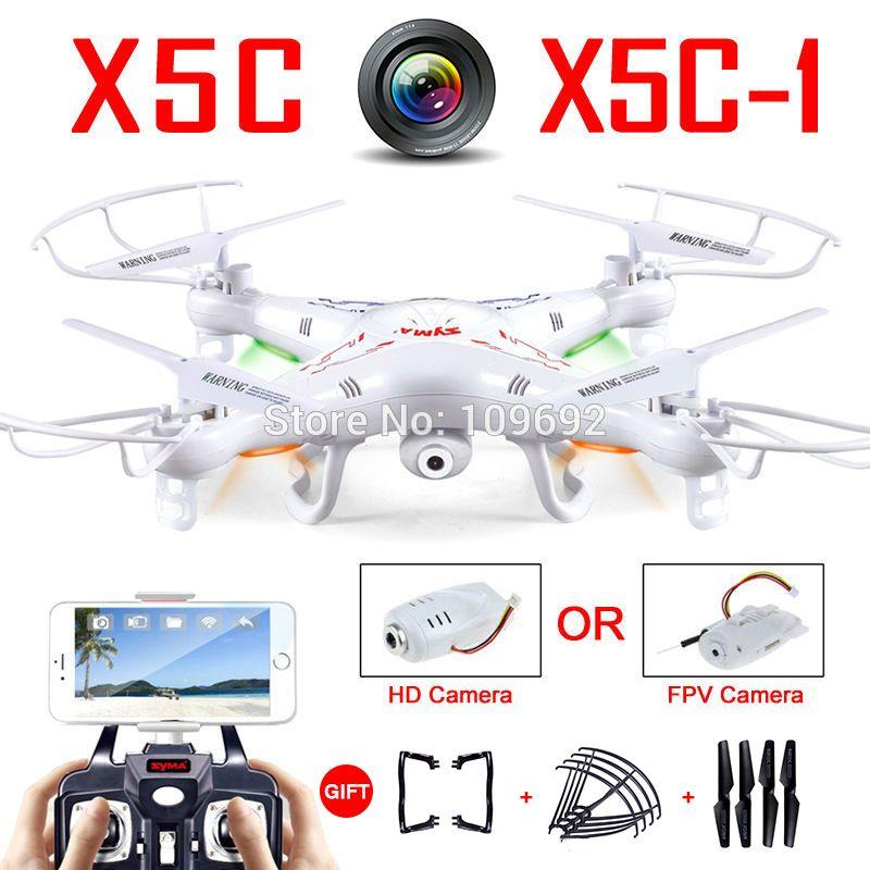 100% Original Syma X5C-1 (Upgrade Version Syma X5C) Drone Can Add WIFI FPV HD 2MP Camera RC Quadcopter Helicopter Toy VS H31 H22