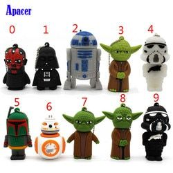 Apacer pen drive de dibujos animados Star Wars Darth Vader 4 GB 8 GB 16 GB 32 GB USB flash drive 64 GB USB2.0