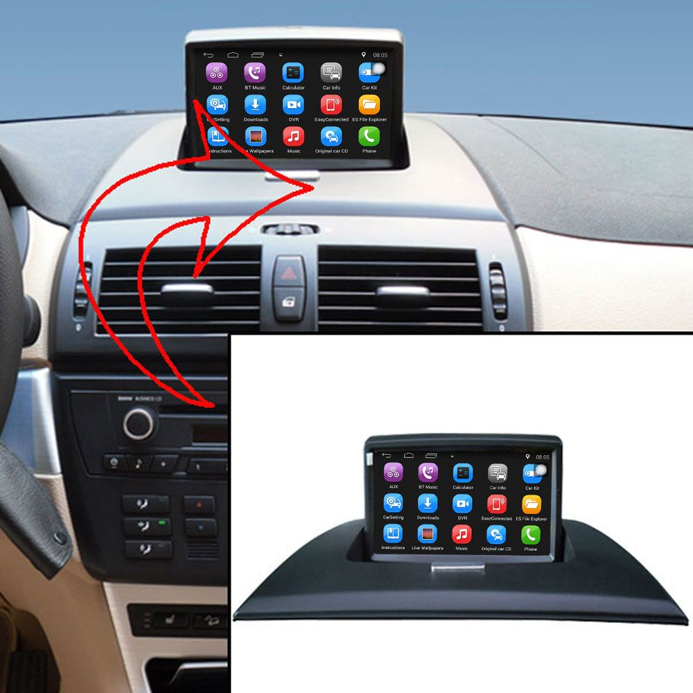 Upgraded Original Android Car multimedia Player Car GPS Navigation Suit to BMW X3 E83 2004-2009 Support WiFi