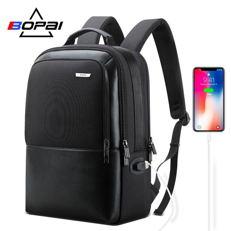 2019 BOPAI Business Rucksack 15,6 zoll bagpack Für Männer Funktionale Rucksack mit USB Lade Port Zurück Packs Reisen Taschen männlichen