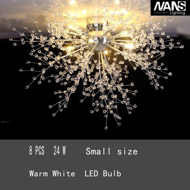 NANS moderne imité cristal Acrly LED G4 plafond lumières 8 bras plafond luminaire pour salle à manger salon décoration de la maison