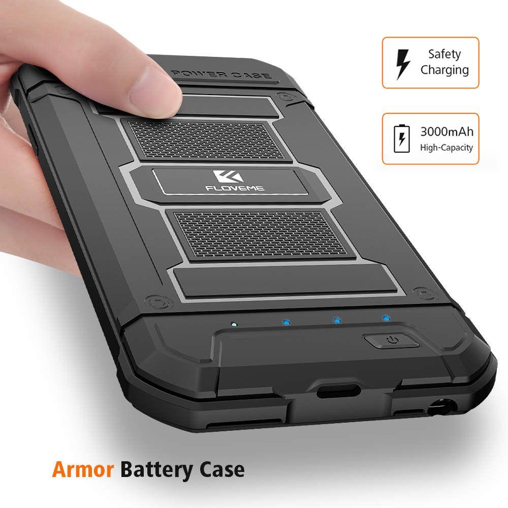 FLOVEME Batterie Chargeur Cas Pour iPhone 6 6 S Plus 7 8 Plus puissance Banque Armure Portable Cas de Batterie Externe Pour iPhone 6 6 S 7 8