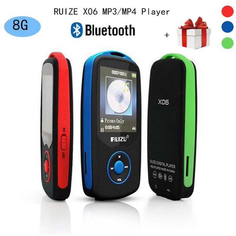 Updated Version Original RUIZU X06 Bluetooth MP3 Music Player with 1.8 Inch Screen High Quality Voice Recorder FM Radio walkman