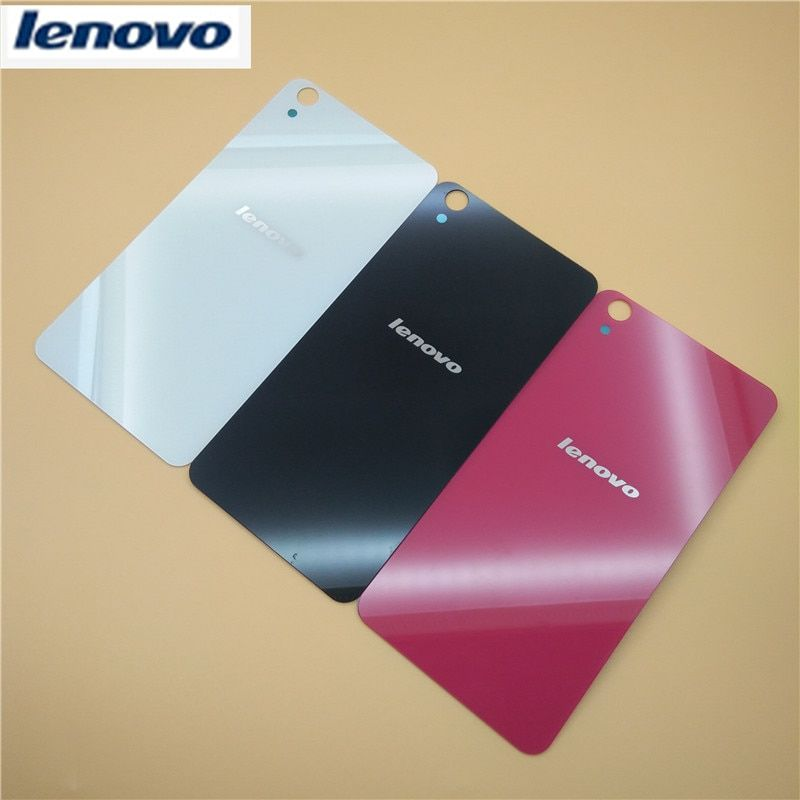 Original For Lenovo S850 Case Replacement Glass Back Cover Battery Rear Door Housing S850 S850t Case 3 Colors Adhesive Sticker