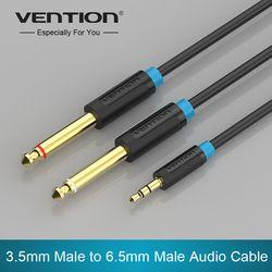 Konvensi Kabel Audio Ganda 6.35mm Pria 1/4