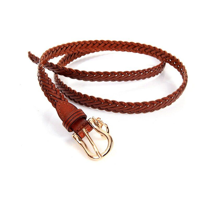 female designer girls belts high quality 2016 genuine leather brand belt second layer of cowskin Braided women Belt cinto faca