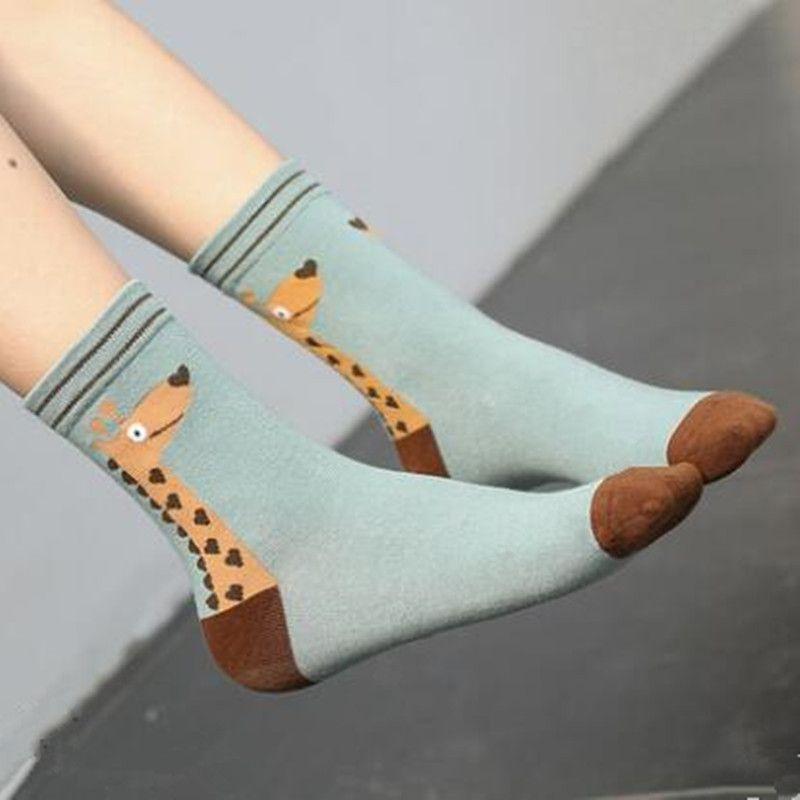 2017 Для женщин зимние носки животных хлопок среднего Носки модные Носки 25 пар
