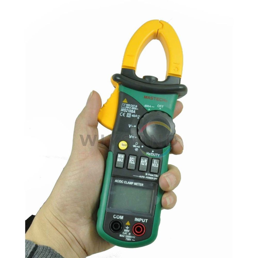 M047 New MASTECH Professional MS2108A 4000 Counts AC DC Current Clamp Meter Backlight