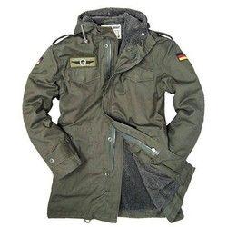 Jerman Tentara Militer Jaket Pria Musim Dingin Kapas Jaket Parit dengan Hood Jaket Lapisan Bulu Mantel Termal