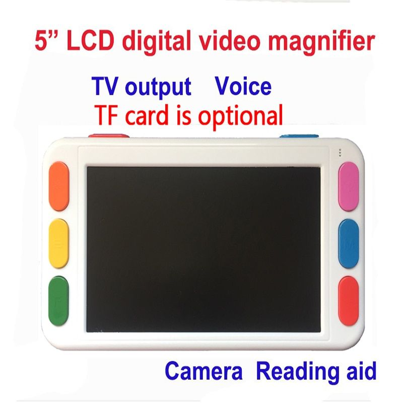5 inch LCD portable magnifier Low Vision Video Magnifier electronic reading aid, Digital Handheld portable Video Magnifier