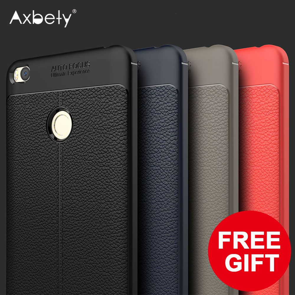Axbety For Mi Max 2 Luxury Ultra Slim Litchi Cover For Xiaomi Mi Max 2 Case For Mi Max2 Soft Silicone Gel Shockproof Phone Cases