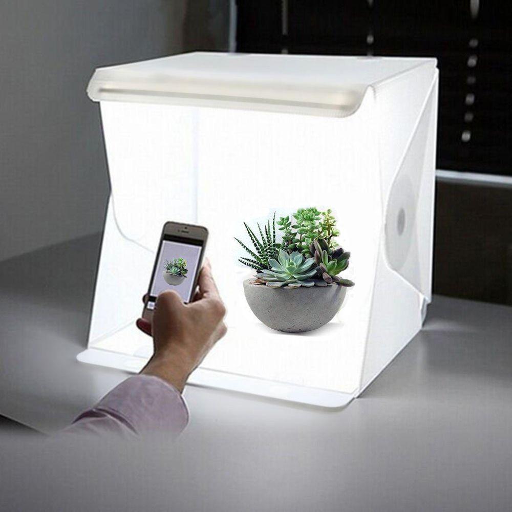 24 cm/9 mini Pliage Lightbox Photographie Studio Softbox LED Lumière Soft Box Caméra Photo Fond Boîte D'éclairage tente Kit