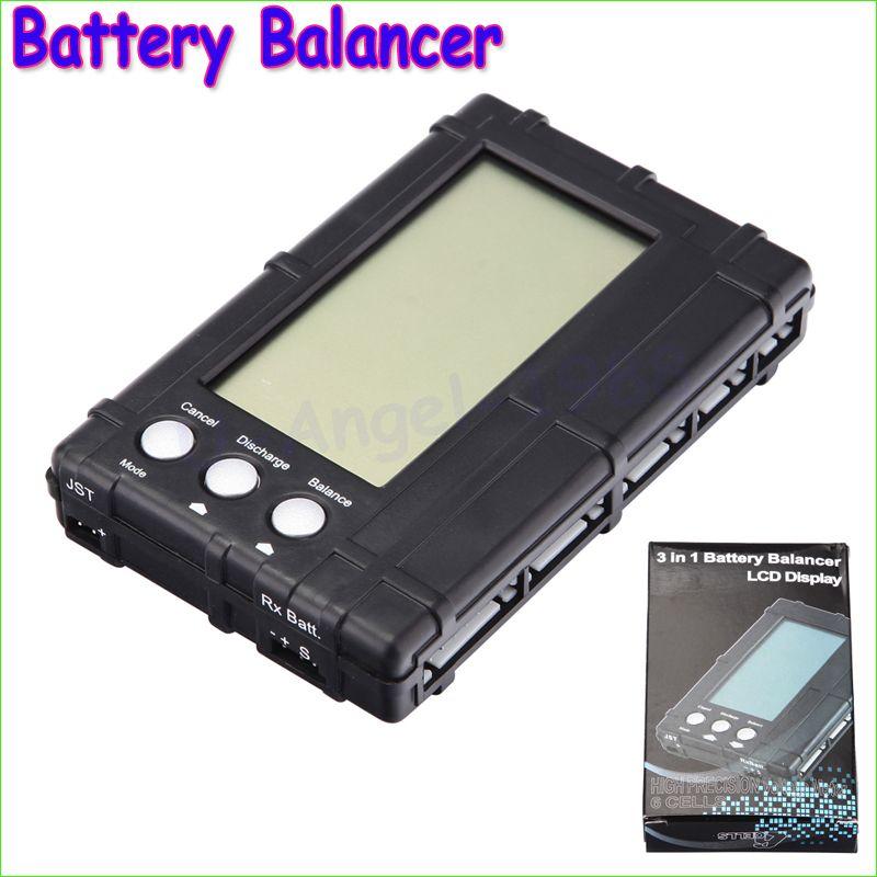 Original Bauen Power 3 in 1 Batterie Balancer RC 2 s-6 s Lipo Li-Fe LCD + spannung Meter Tester + Entlader