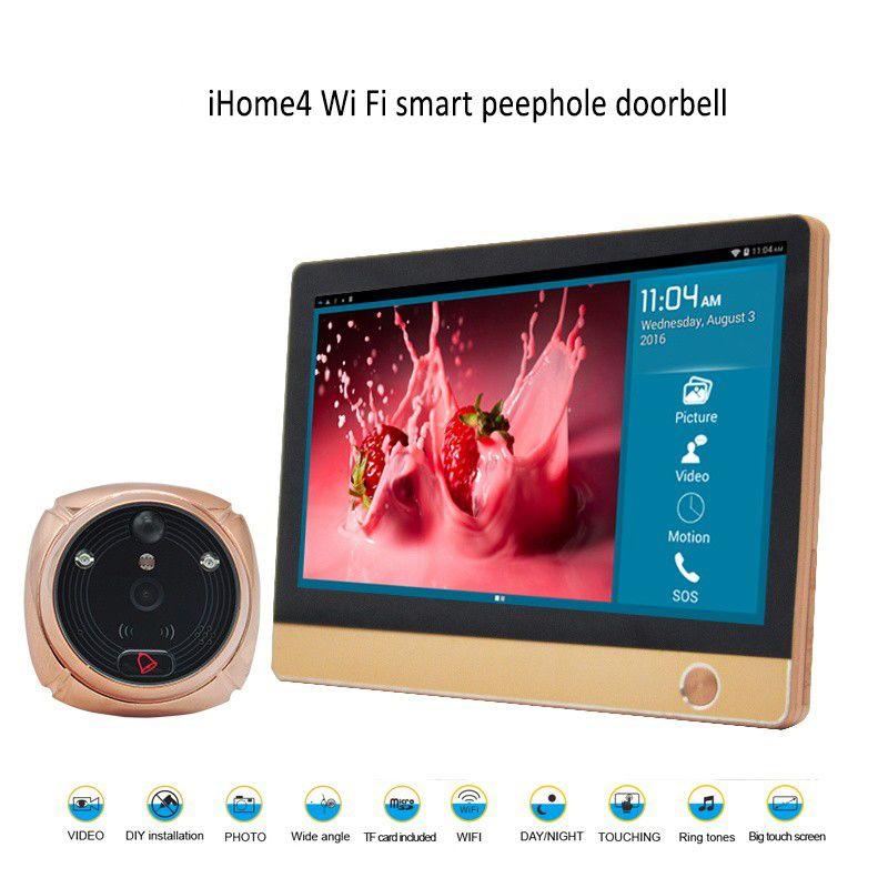 Wi-Fi Цифровой глазок Дверь просмотра 7