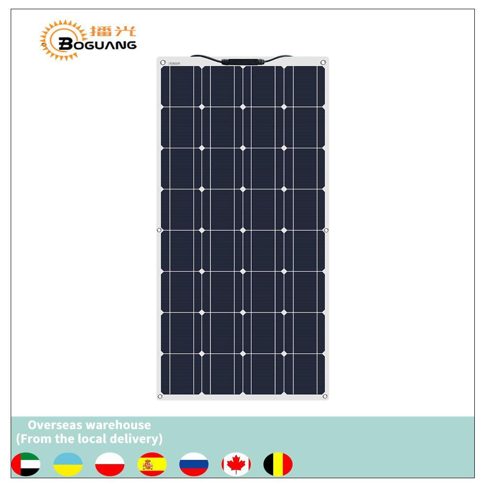 Boguang portable panneau solaire Flexible 16V 100W plaque monocristallin flexible efficacité PV 12V 100 watt chine photovoltaïque
