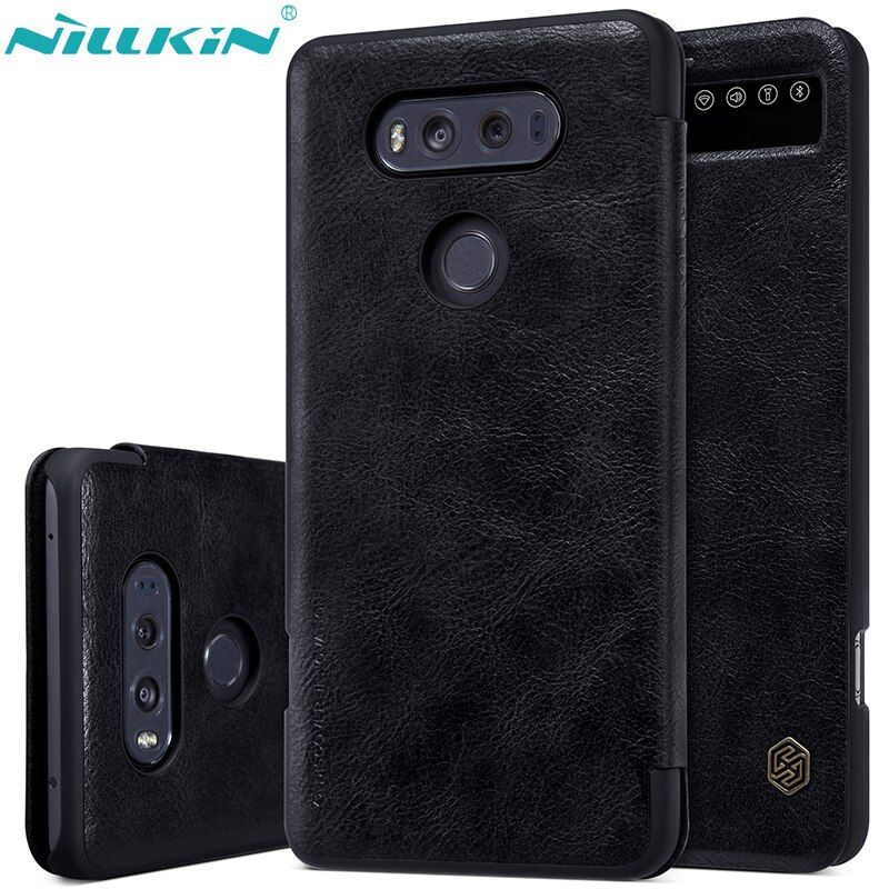 For LG V20 Case H990DS H910 Leather Case NILLKIN Luxury Retro Quality Hard PC Back Cover Flip Smart Sleep Windows Phone Cases