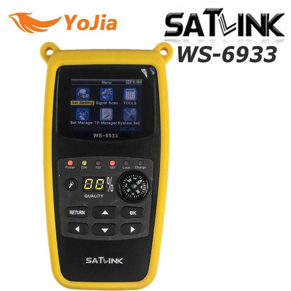 Yojia Original Satlink WS-6933 Satellite Finder DVB-S2 FTA CKU Band Satlink Digital Satellite Finder Meter WS 6933 free shipping