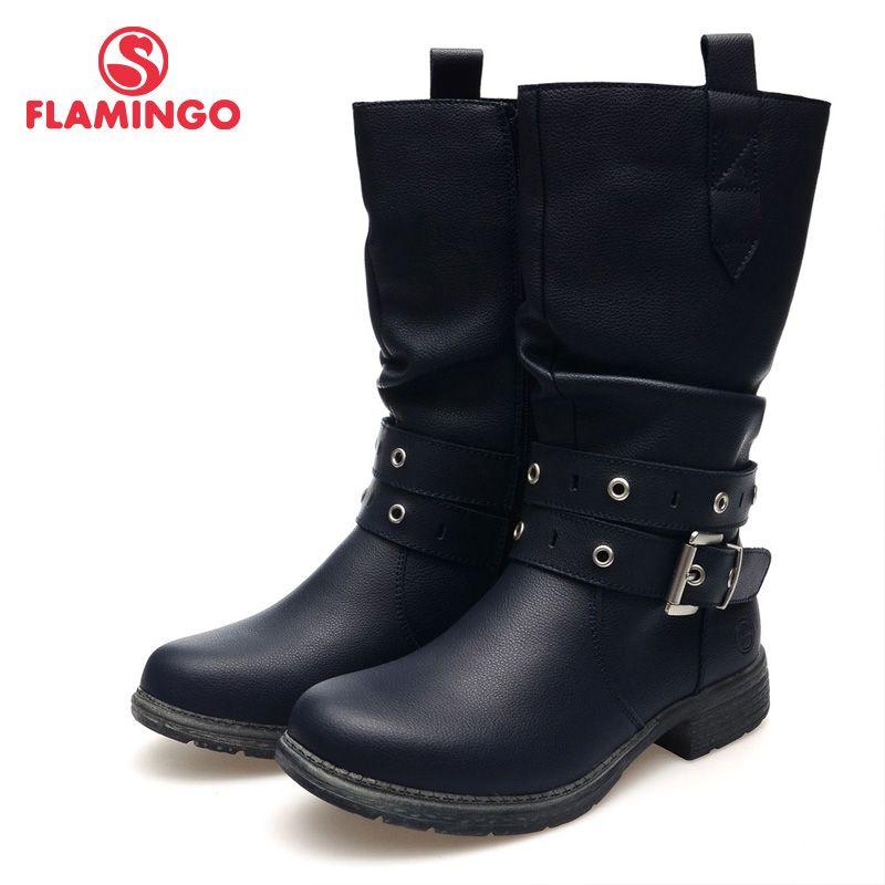 FLAMINGO hochwertige mode herbst/winter leder kinder schuhe für mädchen 2015 neue kollektion rutschfeste stiefel 52-CC323